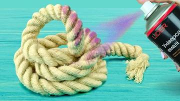 Трум Трум  5 идей декора комнаты своими руками Поделки из веревки