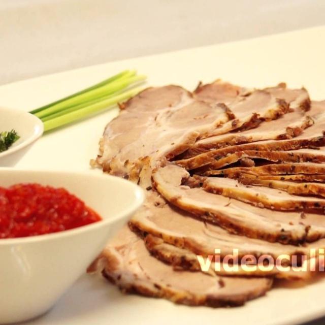 Блюда из свинины. Видео рецепт: Буженина из свиной шеи