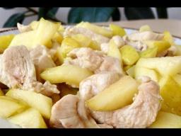Ольга Матвей  -  Куриная Грудка (Грудинка) с Яблоками - Нежно и Вкусно
