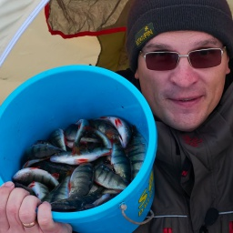 Зимняя рыбалка на озере Плещеево на  Окуня | salapin ru