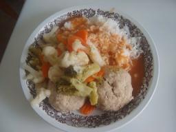 Паровые котлеты с рисом и овощами | Рецепт Маринкины Творинки