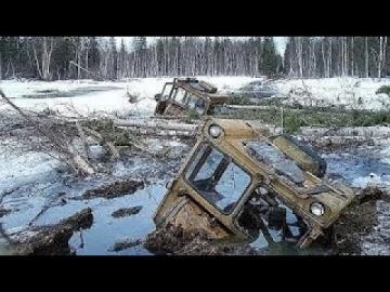 по бездорожью зимой на тракторах и вездеходах работа геологоразведчиков на севере России #