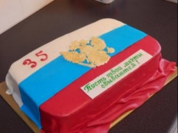 """украшаем торт мастикой.Торт """"Флаг России с гербом"""""""