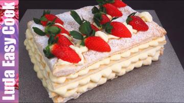 Сказочный Торт ПЛОМБИР ДИПЛОМАТ со вкусом мороженого на Новогодний стол Люда Изи Кук