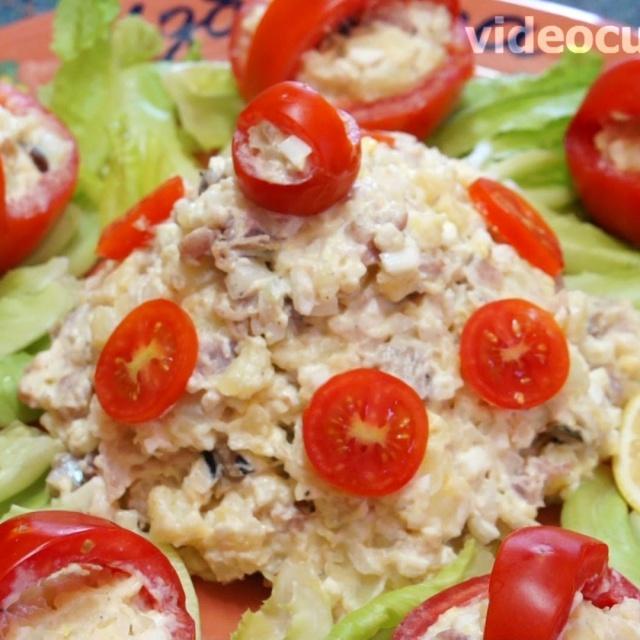 Салат из сельди простой и вкусный - Видео рецепт