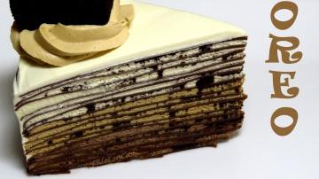 Позитивная Кухня Шоколадный БЛИННЫЙ торт ОРЕО без выпечки рецепт блинного торта