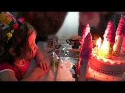 День Рождение Лизоньки Торт  Замок и распаковка подарков Birthday Cake - locking and unpacking gifts