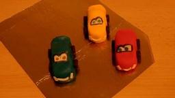 """""""тачки"""" из мастики. машинки для торта Cars aus Fondant"""