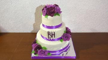 Свадебный торт Как собрать и украсить свадебный тортик | Мастер класс