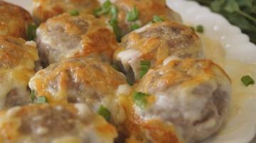 Калинина Наталья  Очень Вкусные Фрикадельки запеченные в сливочном соусе
