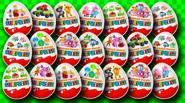 Киндер Сюрприз Анимационные Мультики Открываем Киндеры с игрушками Смешарики игрушками Лунтик  для д