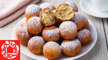 Творожные пончики, как в детстве! Рецепт без дрожжей!