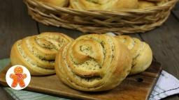 Слоеные булочки с оливковым маслом и ароматными травами | Рецепт Ирины Хлебниковой
