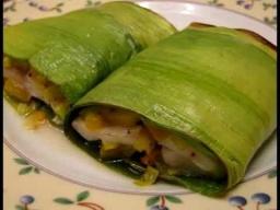 Рыба запеченная в листьях лука-порея рецепт приготовления