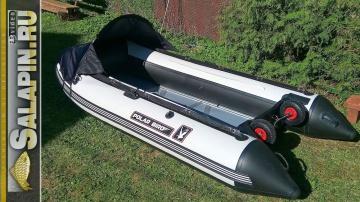 Лодка PolarBird 340M транцевые колеса носовой тент и новые полы salapinru