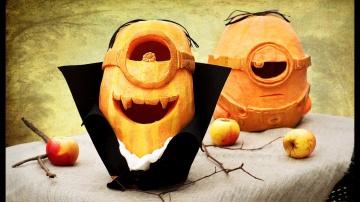 Трум Трум  Как сделать миньона из тыквы на Хэллоуин?