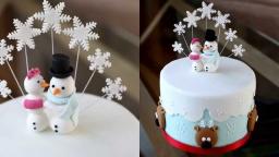 Новогодний торт украшение мастикой RICH RRUIT CAKE рецепт от Dovna