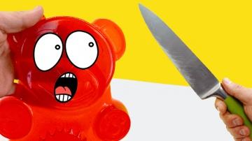 Желейный Медведь Валерка против всех | Канал Познаватель