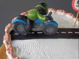 Мотоцикл и мотоциклист из мастики.Лепим шаг за ша