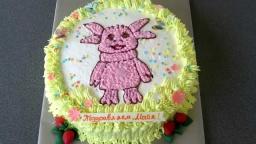 """украшаем торт кремом.Детский торт-раскрасска """"Лунтик"""" для начинаюших"""