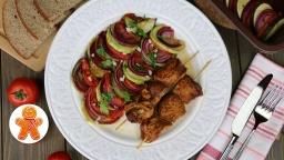 Ирина Хлебникова -  Шашлычки из курицы с овощами |Рецепт