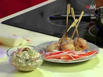 Салат из сельди рыба во фритюре/рецепты Ильи Лазерсона