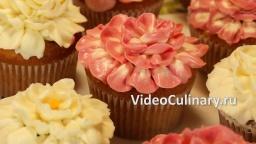 Украшение Капкейков цветами из крема - Рецепт Бабушки Эммы