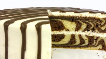 """Торт """"Зебра"""" Простой рецепт красивой и вкусной выпечки"""