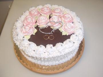 Маринкины Творинки Кремовый свадебный торт