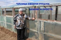 Юлия Минаева -  Супер Теплица своими руками: дешево и просто.