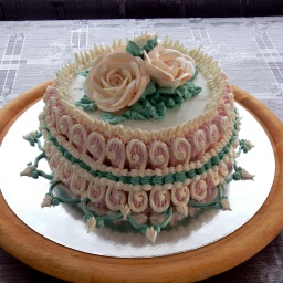 Украшение тортов белковым кремом | Мастер класс