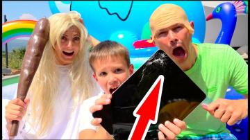Мистер Макс Балди РАЗБИЛ новый iPad Макса и смешная бабушка в реальной жизни мешает детям или kids V