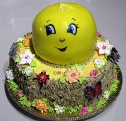 Светлана кесслер торт Колобок на пеньке.