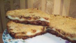Насыпной пирог с творогом и абрикосовым джемом | Рецепт Светланы Черновой
