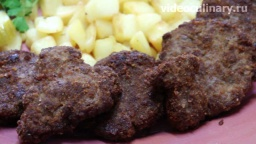 Шницель из молотой говядины - Рецепт Бабушка Эмма
