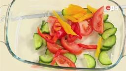 Нежный салат из свежих овощей без лука и чеснока от шеф-повара /   Обед безбрачия