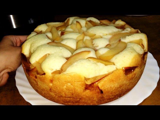 Рецепт видео - Шарлотки с яблоками простой и вкусный в мультиварке