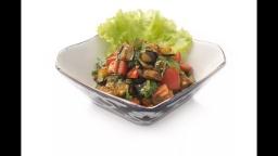 Салат из сырых баклажанов, цуккини, болгарского перца | Рецепт Лазерсона Ильи