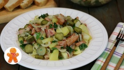 Картофельный салат по-немецки очень простой и вкусный |Рецепт