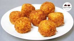Видео -  Шарики из картофельного пюре с ветчиной и сыром  ЛЕГКО! Easy Potato Balls With Cheese
