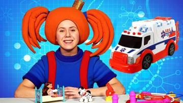 Жила-была Царевна - Поиграйка с игрушками и машинками - Развивающее видео для детей
