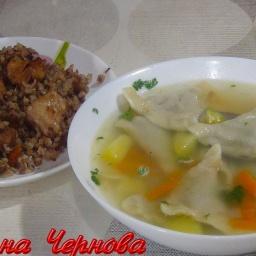 Суп с грибными ушками и гречка с мясом-отличная идея для обеда | Рецепт Светланы Черновой