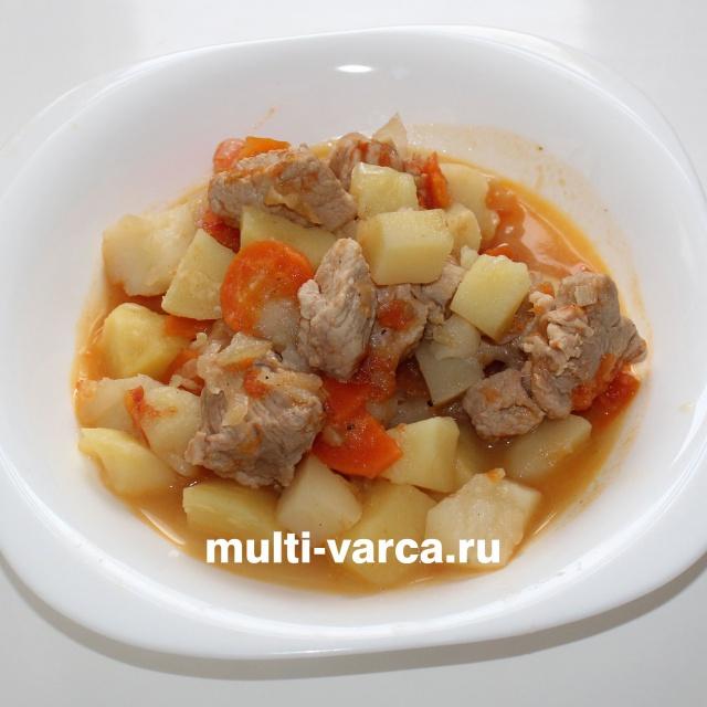 Жаркое из свинины с картошкой | Видео рецепт