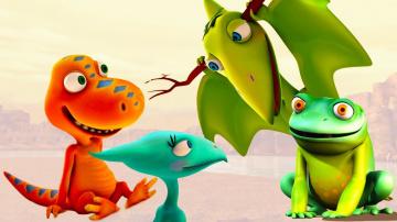 Развивающие мультики про динозавров. Путешествия Бадди и Тайни