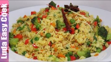 Позитивная Кухня ВКУСНЫЙ ГАРНИР ИЗ РИСА и овощей на сковороде БЫСТРО И ПРОСТО