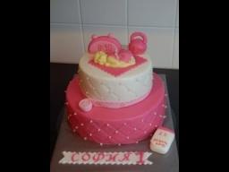украшаем торт мастикой.Торт на первий день рождения.erste Geburtstagstorte