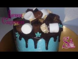 Как украсить торт без мастики   Белковым кремом   Шоколадной глазурью   Ягодами или сладостями.