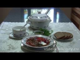 Украинский борщ - Видео Рецепт Бабушки Эммы