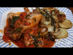 Юлия Высоцкая — Курица в томатном соусе с грибами и картофелем