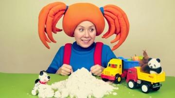 Жила-была Царевна -  ПОИГРАЙКА - Лепим кексики и играем с машинками - Развивающее видео для детей